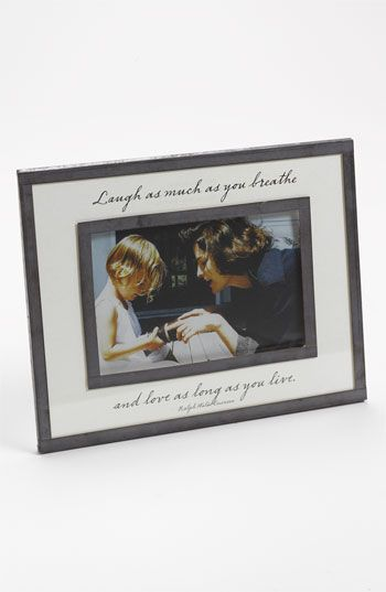 Ben\'s Garden \'Laugh as Much as You Breathe\' 4x6 Picture Frame ...