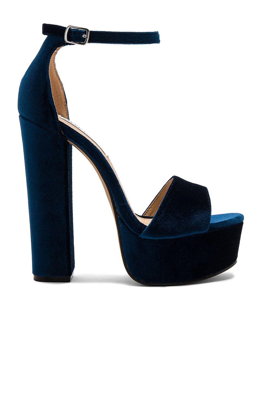 25f14384464 Steve Madden Gonzo V Heel in Blue Velvet