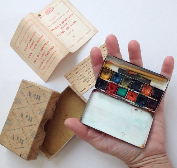 Rare Winsor Newton Bijou Miniature Box Of Artists Moist Water