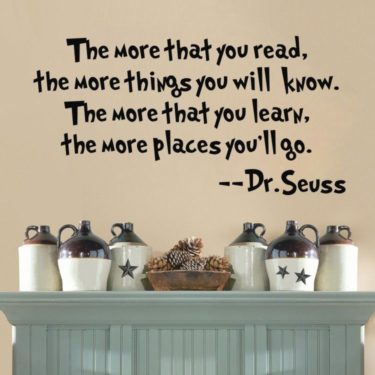 DR SEUSS MORE THAT YOU READ YOU KNOW Home Decor Quote Vinyl Wall Decal  Sticker