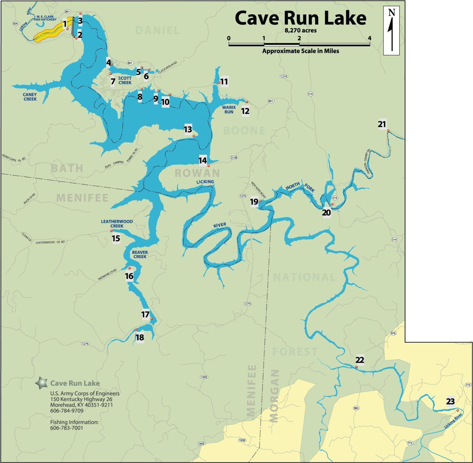 CAVE RUN LAKE DANIEL BOONE NATIONAL FOREST KENTUCKY BEACH