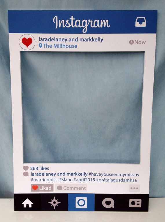 printed instagram frame premium personalised instaframe photobooth prop frame for weddings birthdays hen parties and any other event
