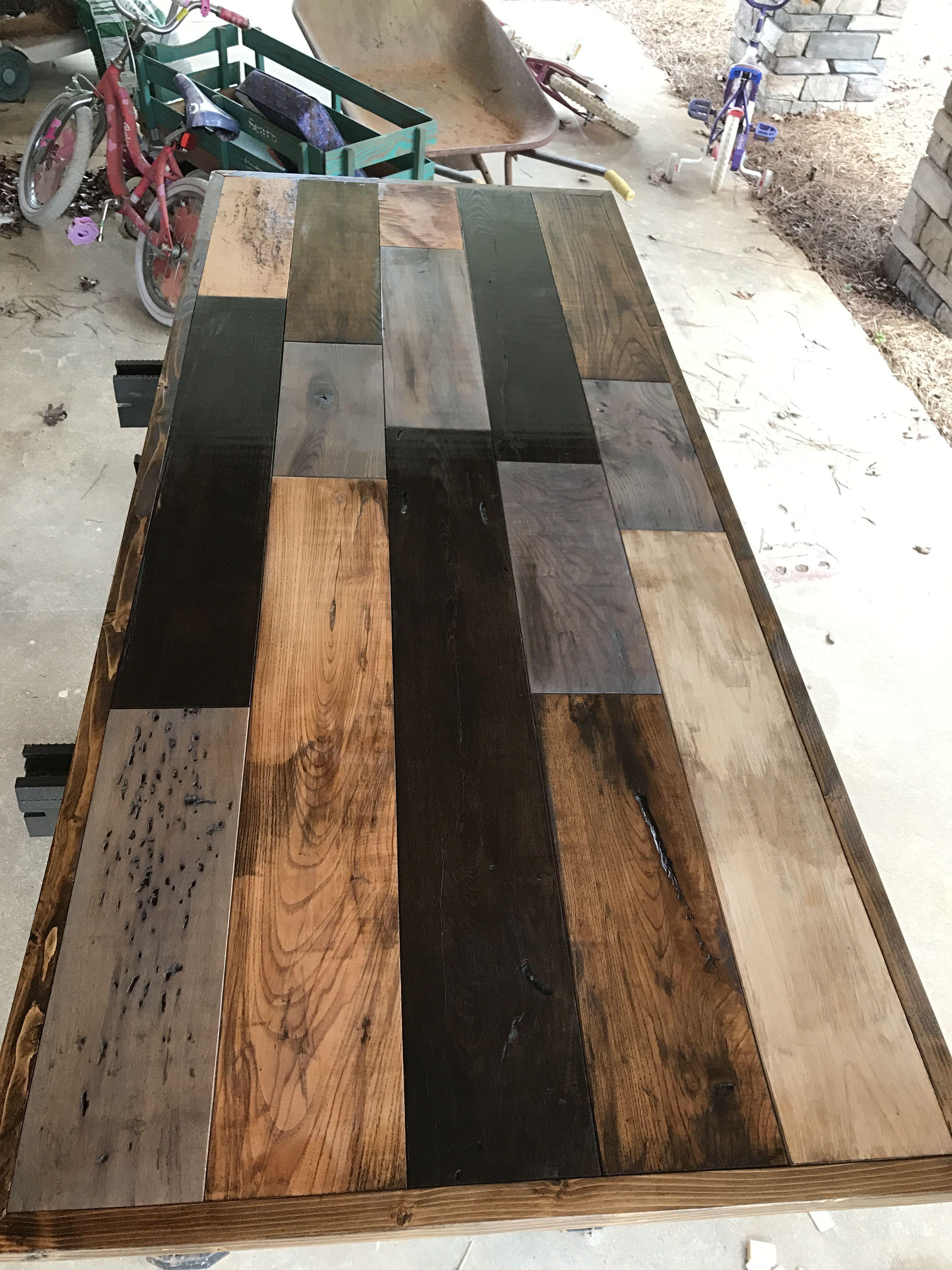 Reclaimed Wood Desktop Reclaimed Wood Desk Diy Wood Desk Diy