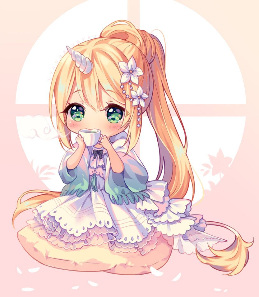 Video] Commission - Flower Tea Time by Hyanna-Natsu  Chibi anime