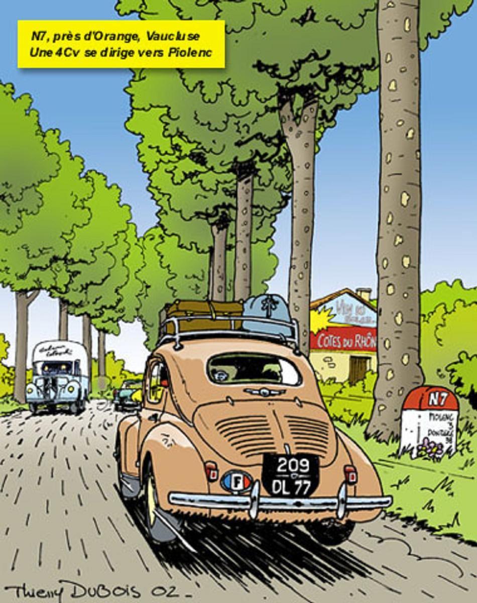 N7 pres de orange vaucluse une 4cv se d 39 irige vers for Garage ford vaucluse