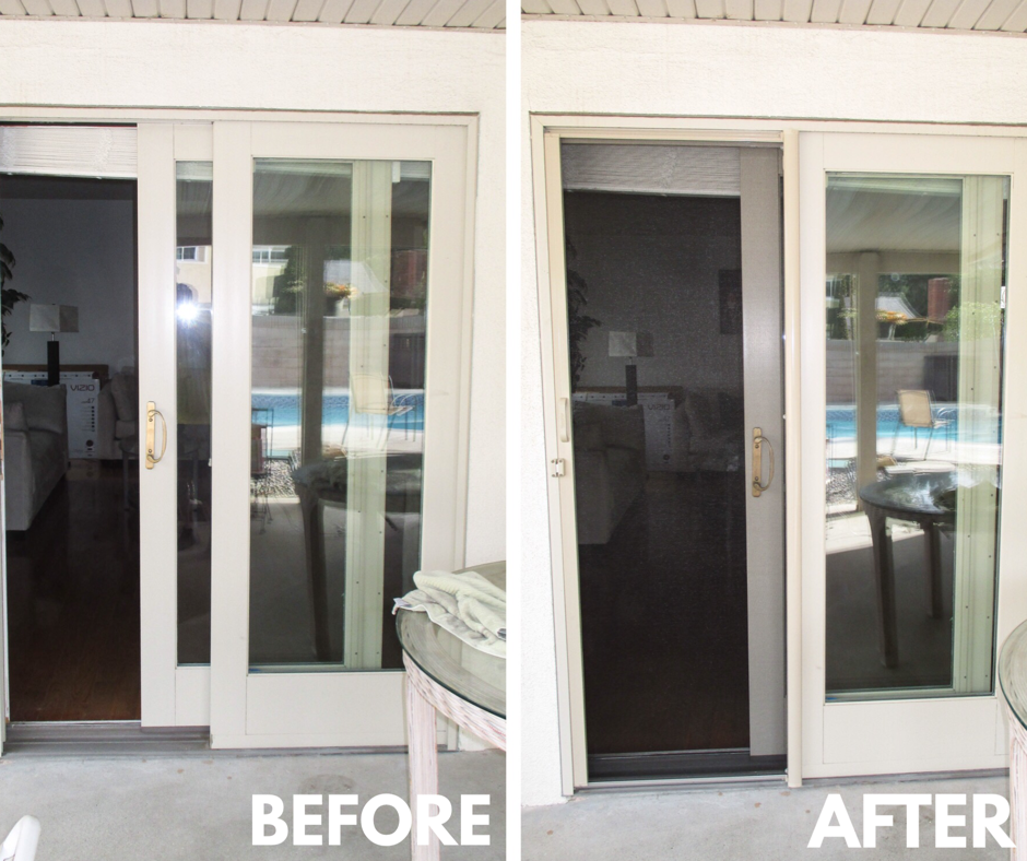 Our team installed this StowAway Retractable Screen with a