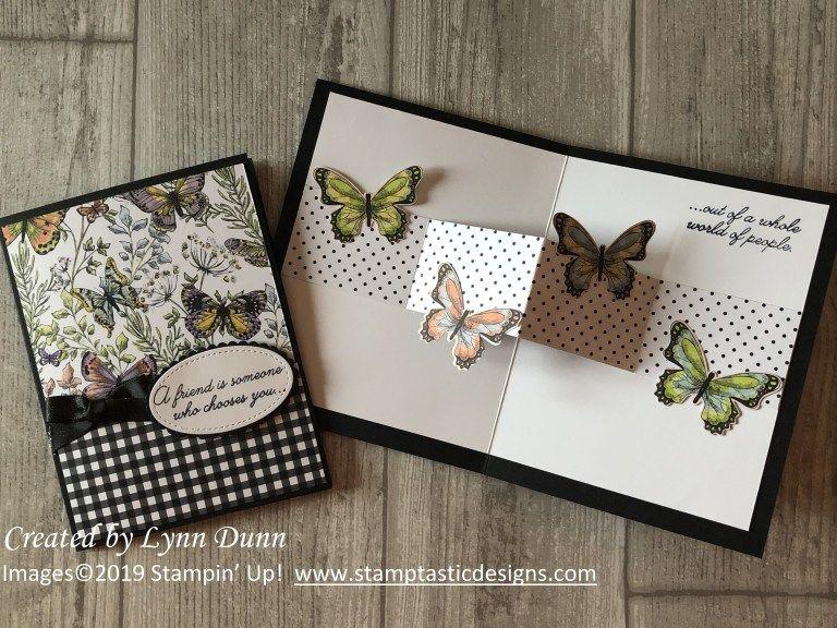3d Pop Up Butterfly Card Lynn Dunn Fancy Fold Cards Butterfly Cards Fun Fold Cards
