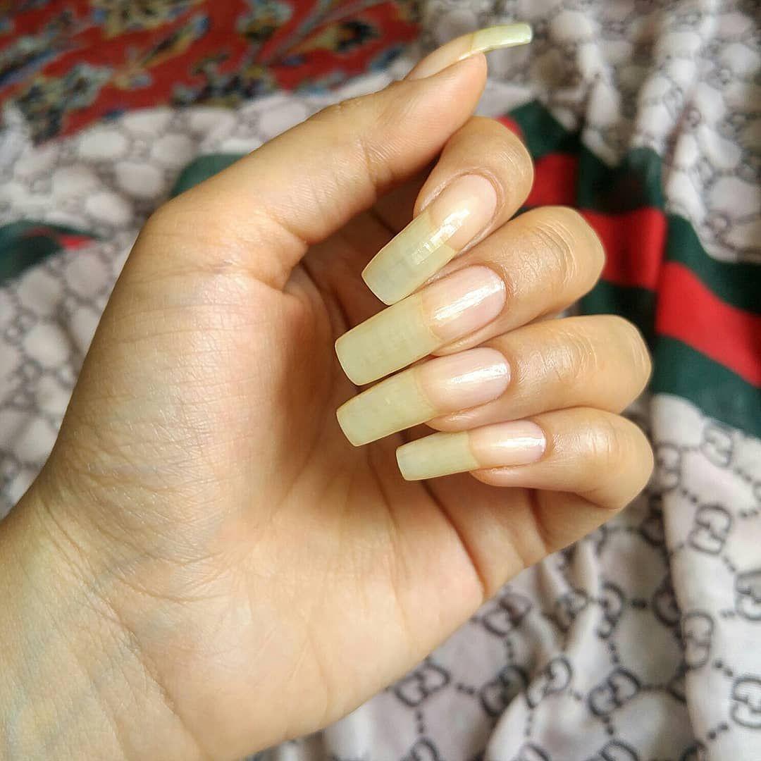 Long Time No Bare Nails Nails Longnails Nailart Fashion Nailpolish Naturalnails Nailfans Girls Long Natural Nails Natural Nails Long Nails