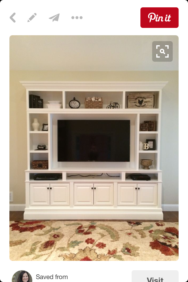Pin by Linda Laubner on Living Room Walls  Built in tv
