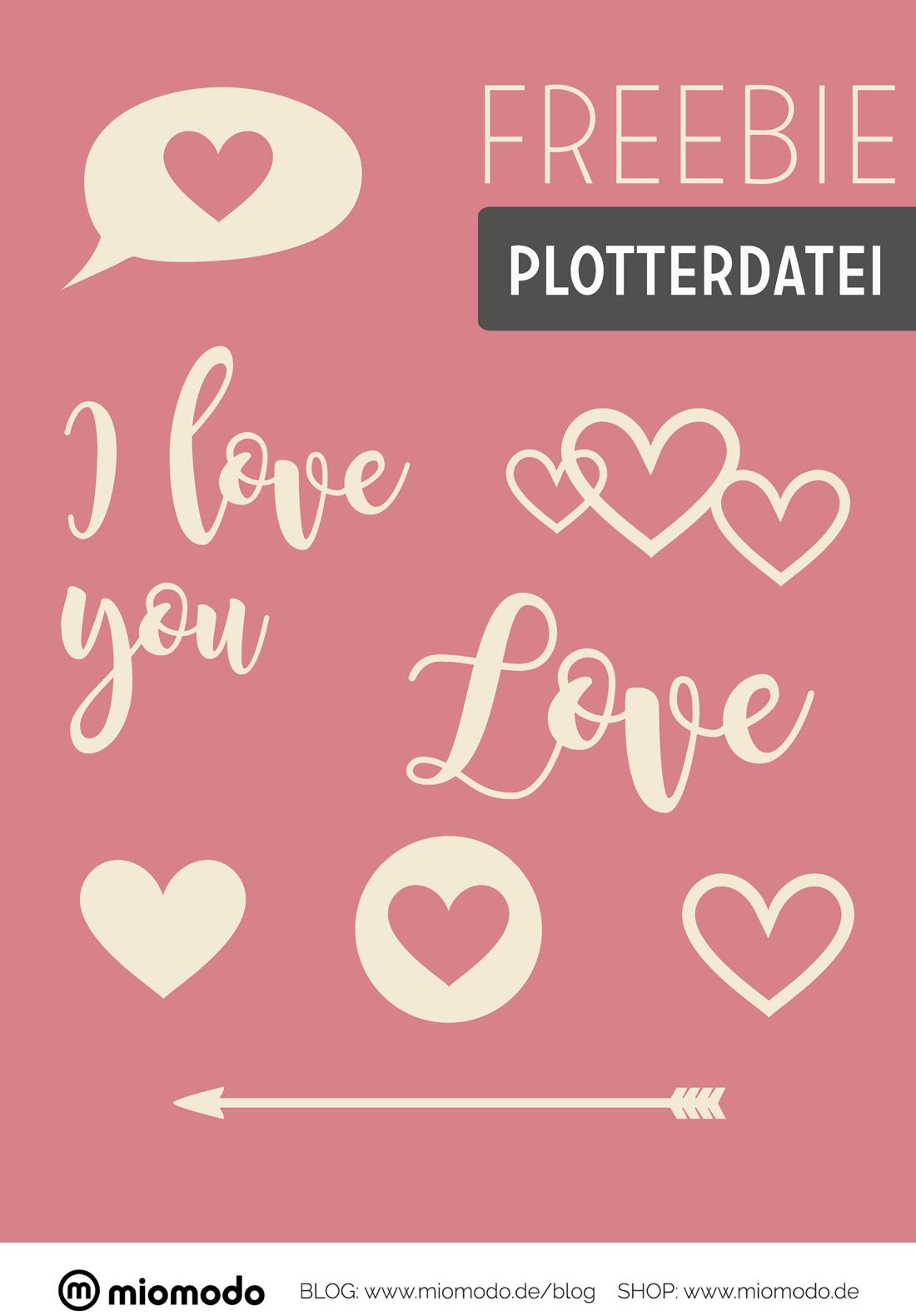 Valentinstag Freebie Plotterdatei | miomodo DIY Blog