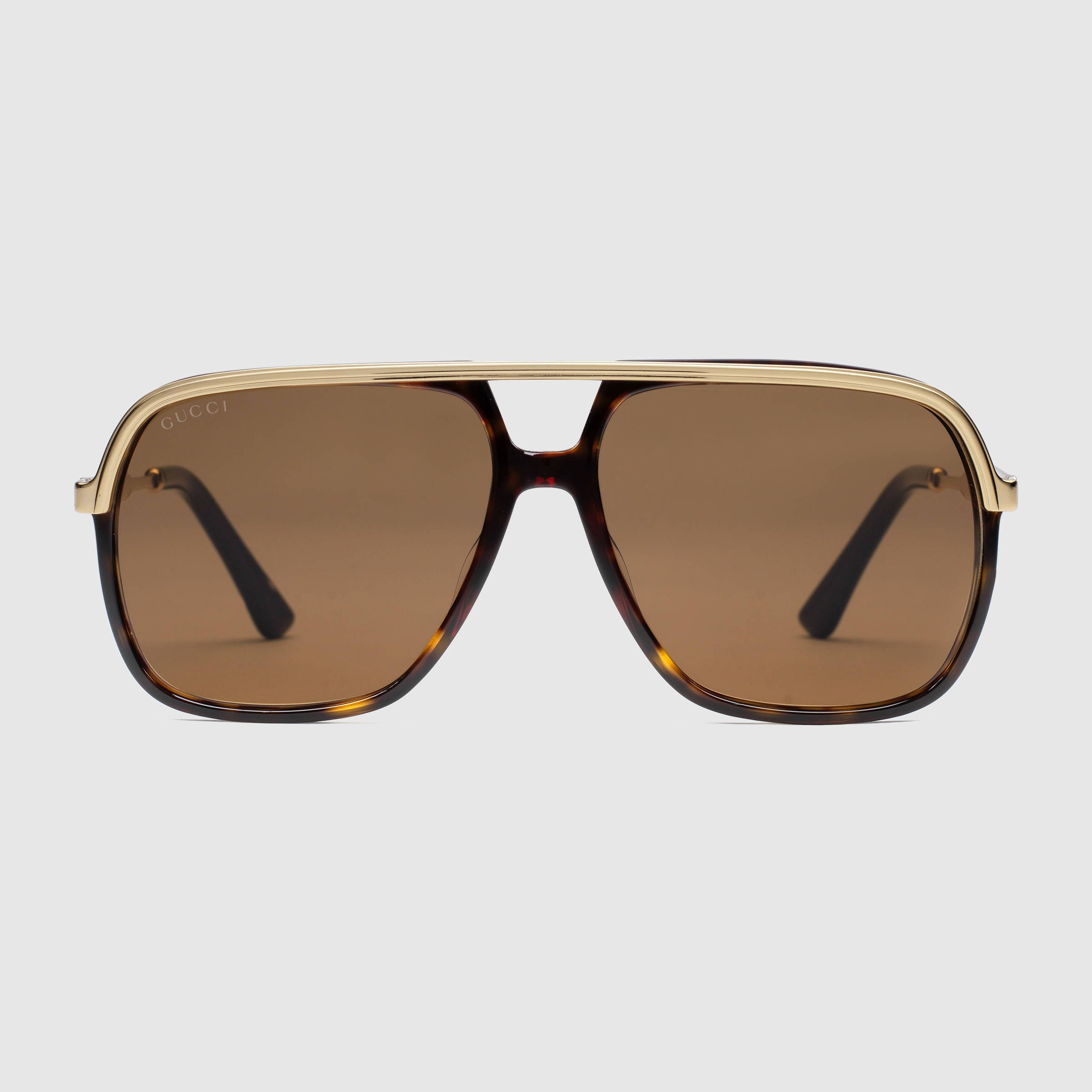 1608be07eb5  400 GUCCI Sunglasses - SOLD by GUCCI - affiliate - Rectangular  Tortoiseshell metal frame Gold metal temples with enamel Web detail Brown  lens100% UVA UVB ...