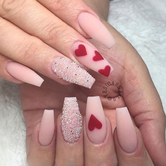 Life After Valentine S Day Nails Acrylic Coffin Restbytes Com Nail Designs Valentines Pretty Nail Art Designs Valentine S Day Nail Designs