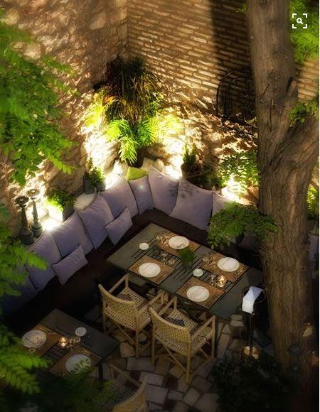 Iluminacion De Terrazas Y Jardines Para Fiestas Que Enamoran Yard - Iluminacion-para-jardin