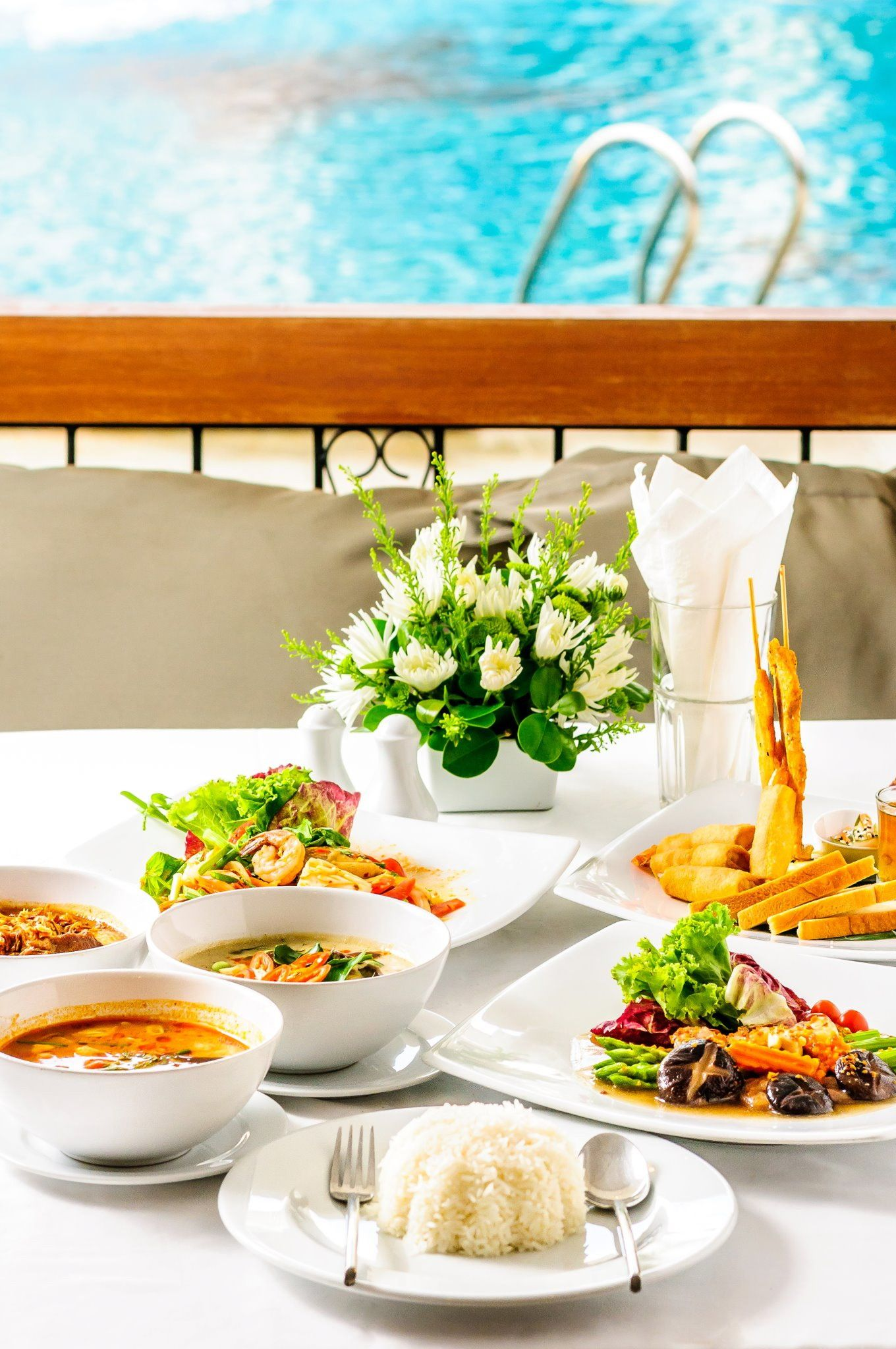 Some awesome cuisine available at the poolside at Sawaddi Patong Resort  http://www.patongsawaddi.com/