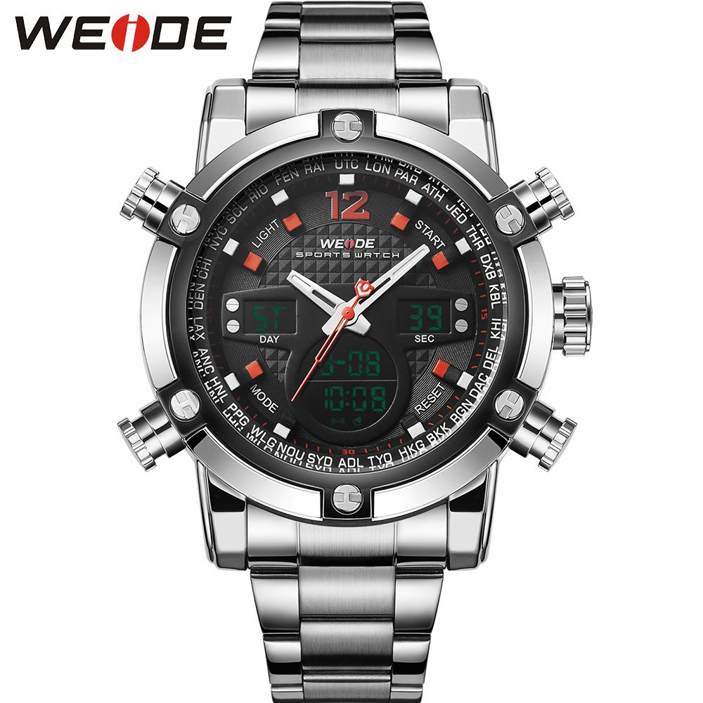 brushed tomoro top quartz black men fashion lcd clock luxury man watches watch band digital dial product stylish simple brand steel