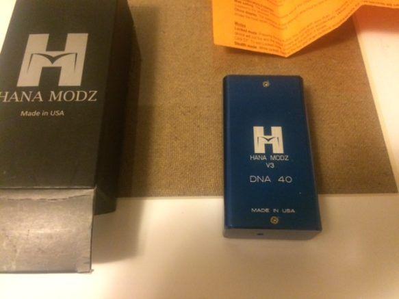 WTS – Navy Blue Hana Modz v3 DNA 40 box mod | VV/VW Box Mods for