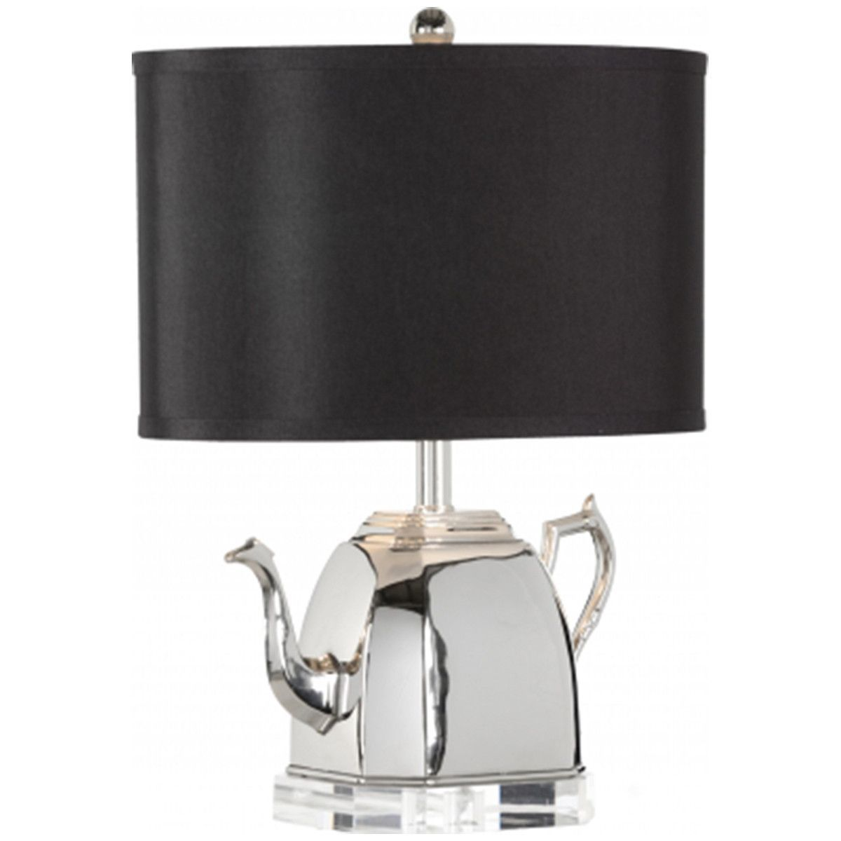 Frederick Cooper Polished Nickel Stout Lamp