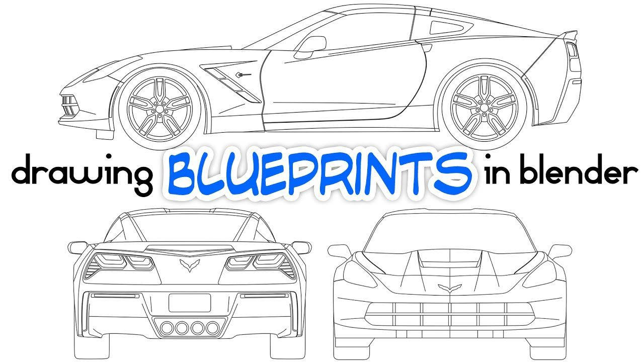 Drawing car blueprints using blender vehicle and mechanical drawing car blueprints using blender malvernweather Choice Image