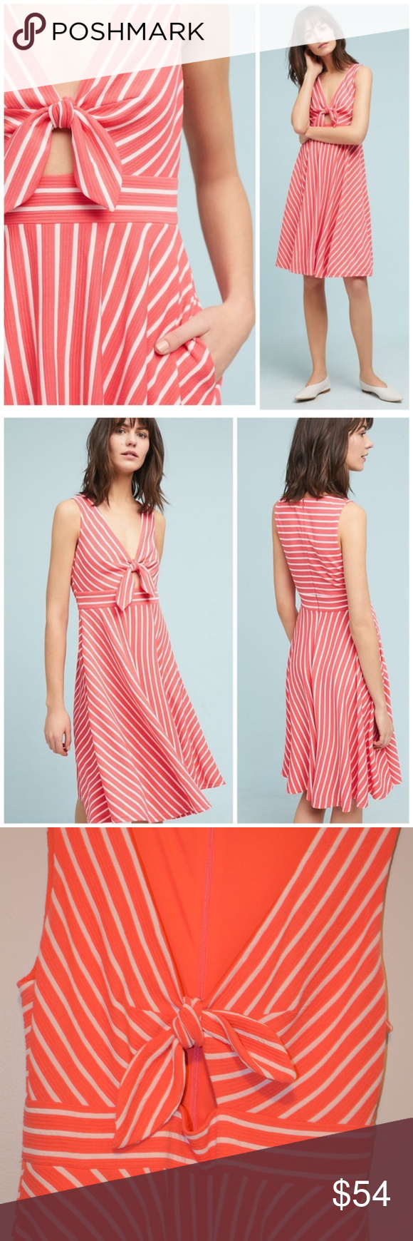 f318c5248490 Anthropologie Hutch April Keyhole Dress Anthropologie Hutch April Keyhole  Dress This coral and white stripe dress is such a dream and PERFECT for  summer!