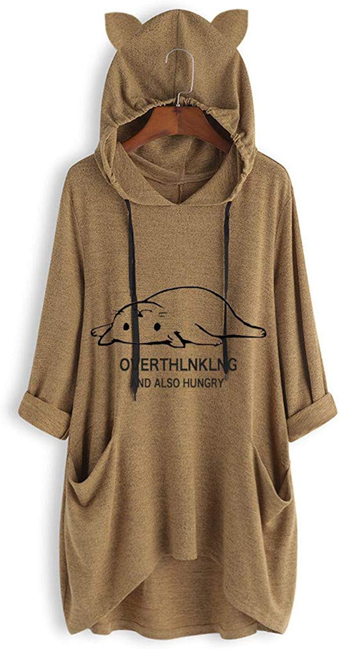 OTTATAT Long Hoodie for Womens, 2019 Autumn Winter Ladies Solid Pattern Causl To... 3