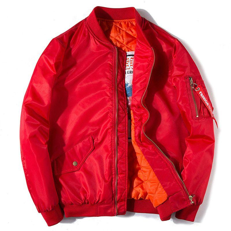 7ed5a8de06a 2017 new men women winter thick warm bomber jacket army military Solid  pilot Baseball jacket fashion