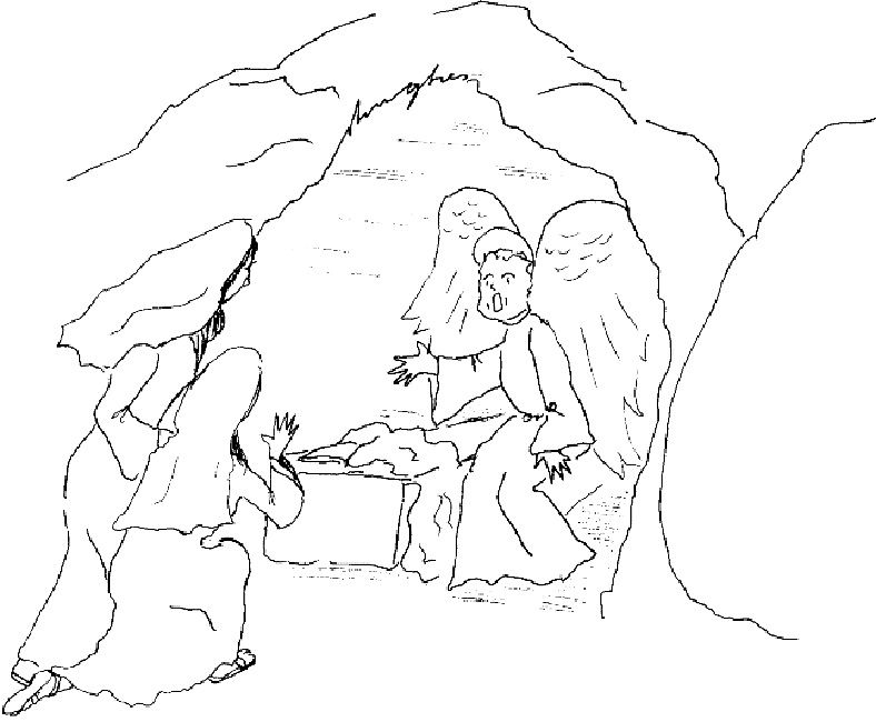 Easter Coloring Pages Empty Tomb