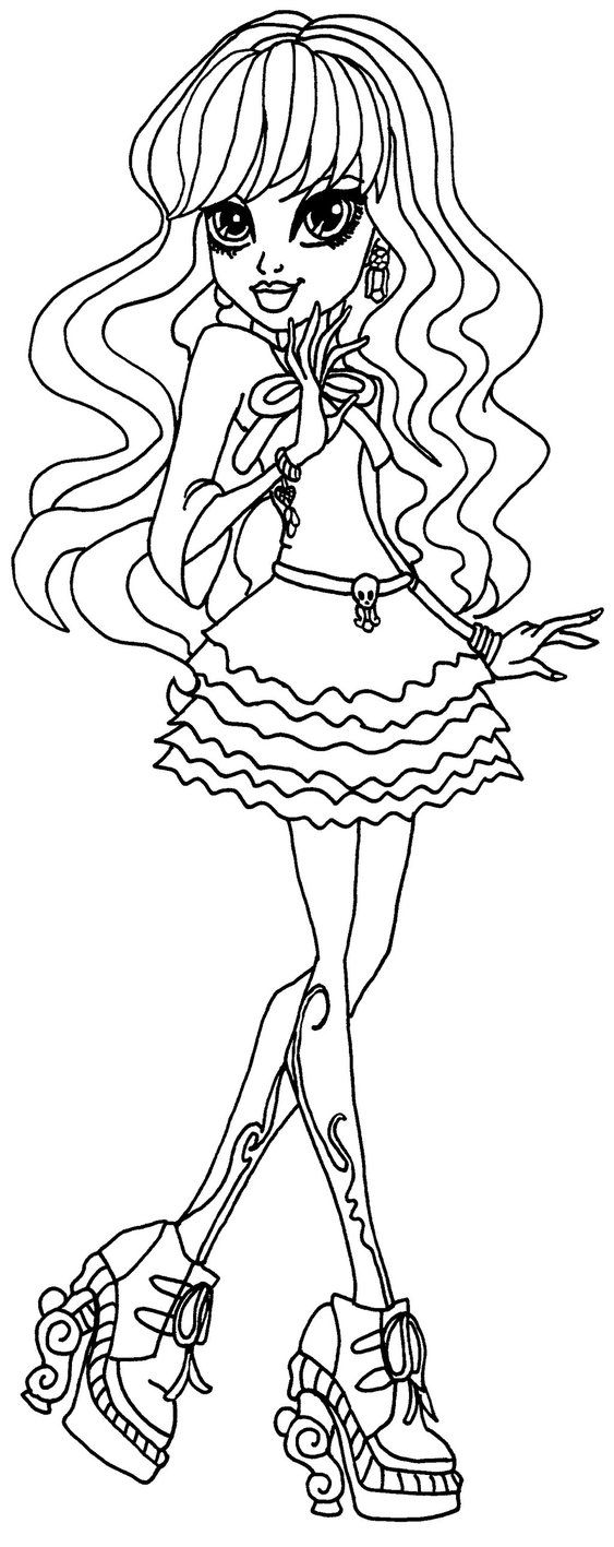 monster high coloring pages twyla