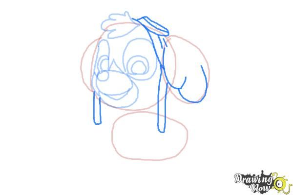 Captivating How To Draw Skye From PAW Patrol   Step 6