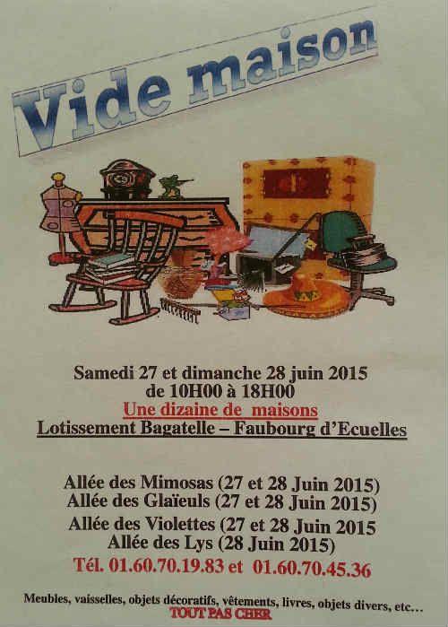 Image Vide Grenier Et Vide Maison Ecuelles 27 06 2015 77 Vide Maison Carte Remerciement Vide Grenier