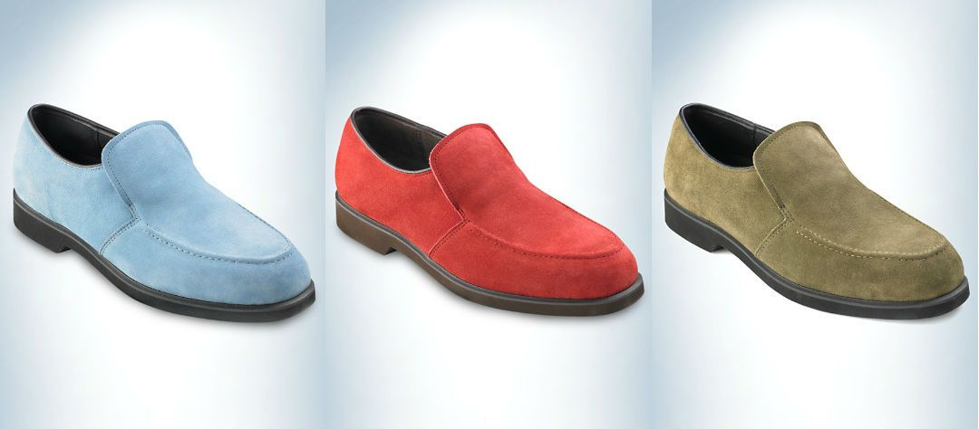 Hush Puppies® Earl Loafers A wealth of style in luxe suede specially  treated to repel