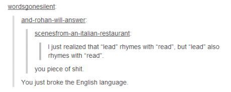 You just broke English