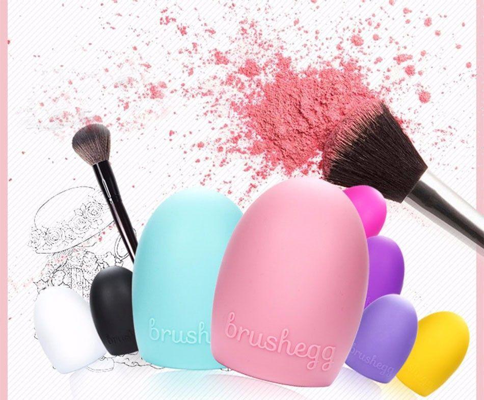 Brushegg Makeup Brush Cleaning Silicone make up brush