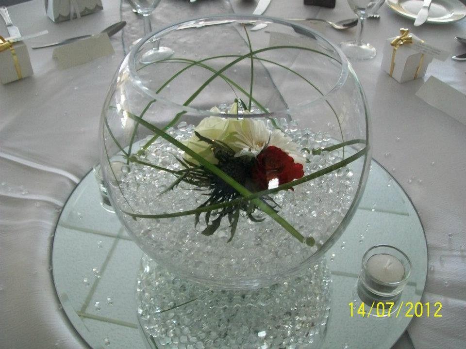 20cm fish bowl hire 400 centre pieces pinterest centre roses and thistle wedding centerpieces loch lomond glasgow junglespirit Images