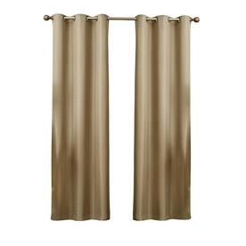White Lavish Home Mia Jacquard Grommet Single Curtain Panel 95-Inch