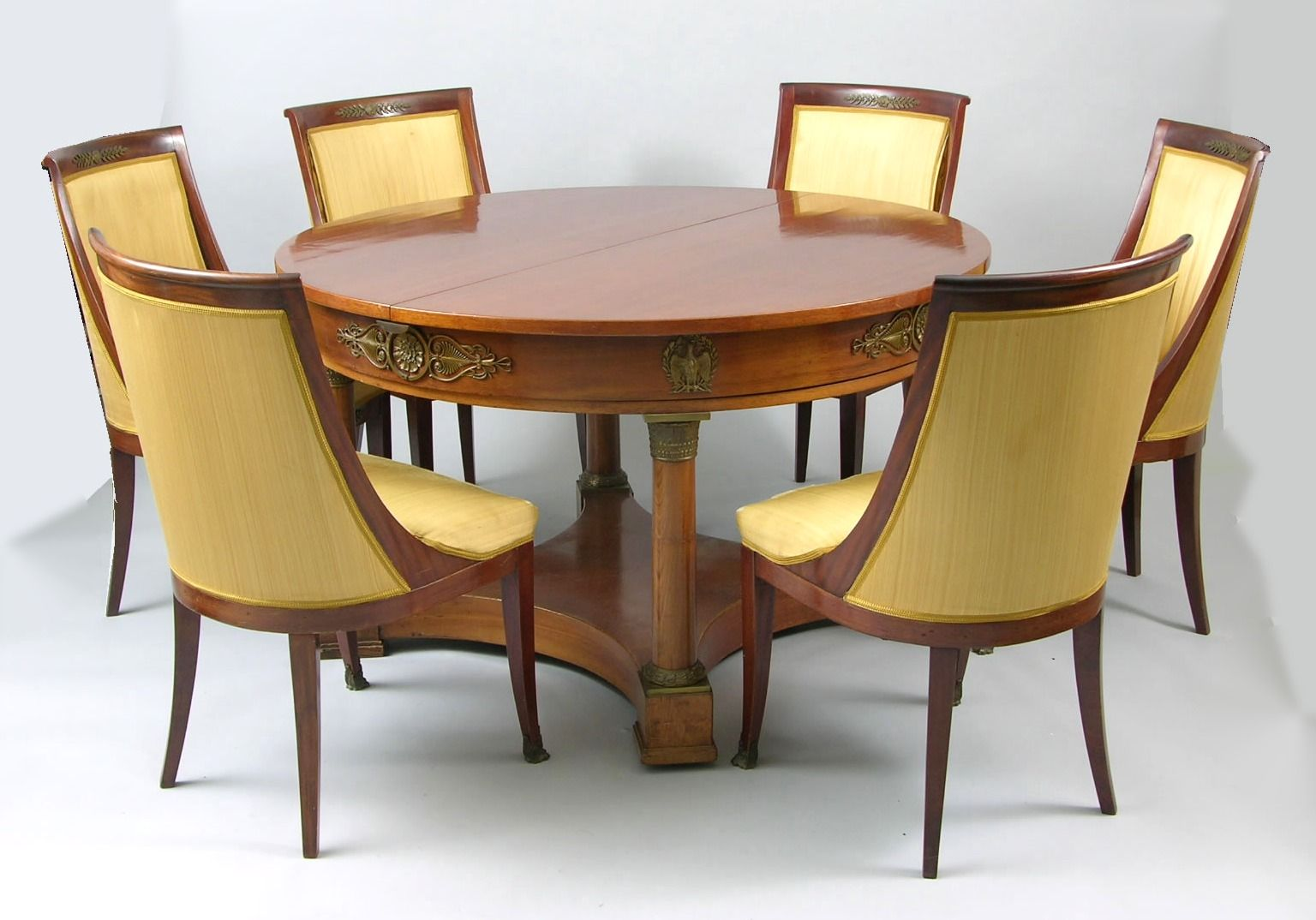 An Empire Style Dining Table And Six Chairs Ca 19th Century Furniture
