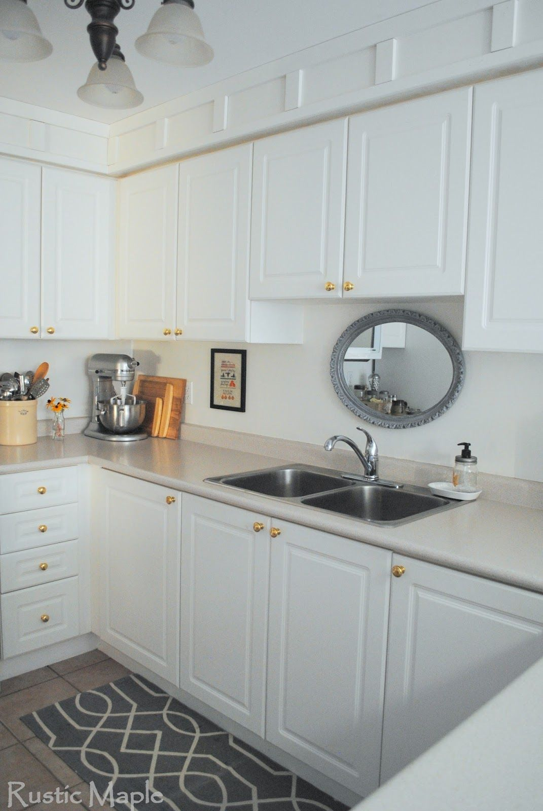 white kitchen with shiplap and soffits  Google Search