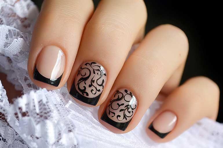 Black Tips Nail Art Uas By Octavio Pinterest Easy Nail Art