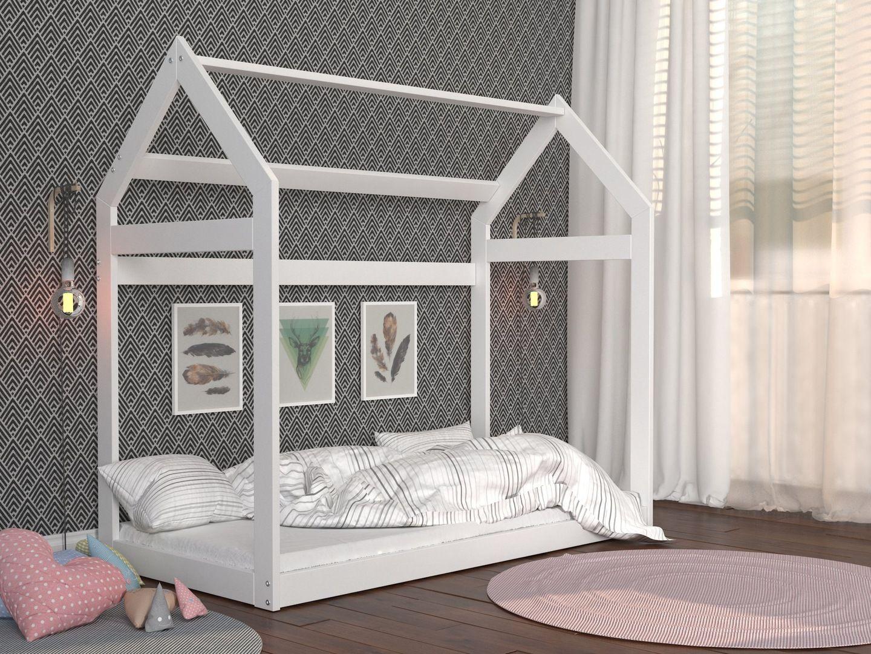 łóżko Drewniane Domek 160x80 Materac Stelaż 154cm In 2019