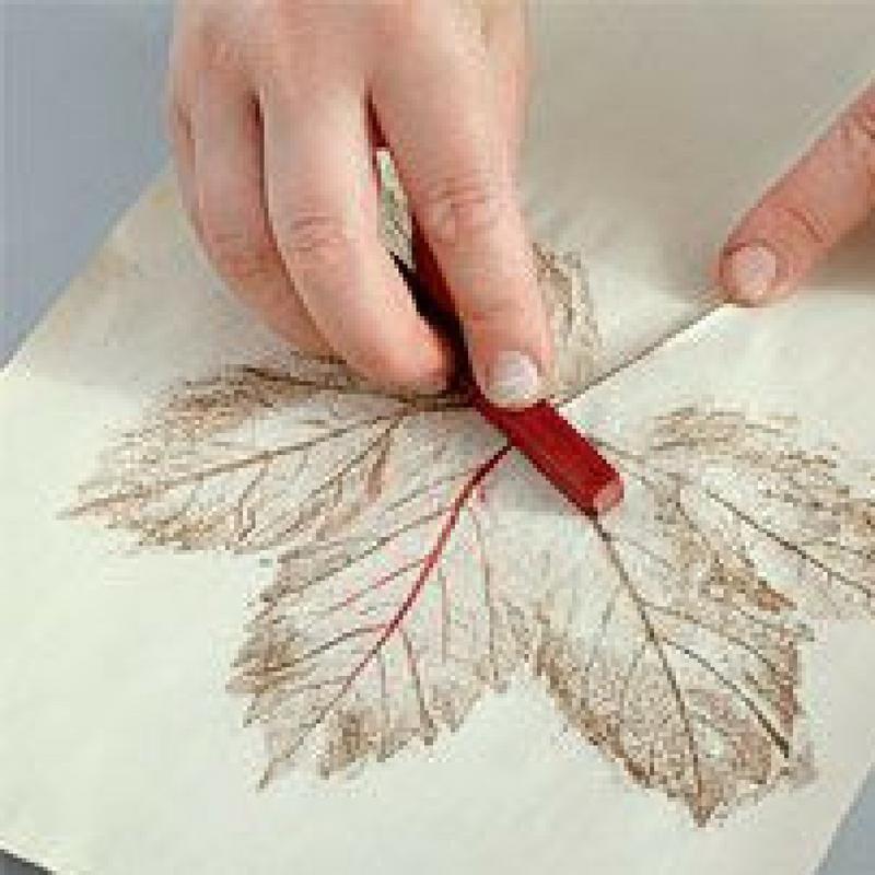 Easy Leaf Print Art