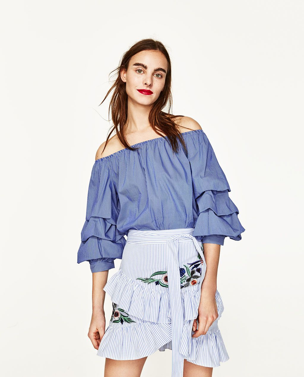 STRIPED EMBROIDERED SKIRT-View All-SKIRTS-WOMAN | ZARA United ...