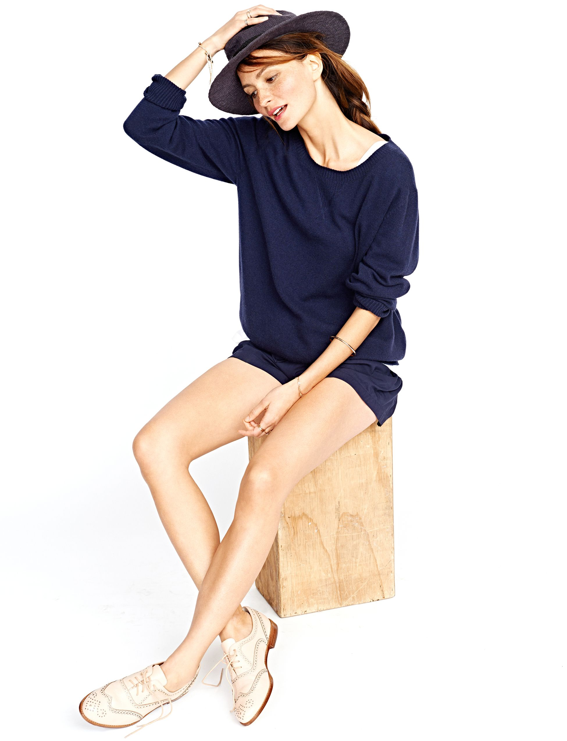 74e3a7d293418 HATCH Collection: Comfort and style for mamas before during and after. The  Cashmere Sweatshirt and The Stroll Short from The HATCH SS15 Collection.