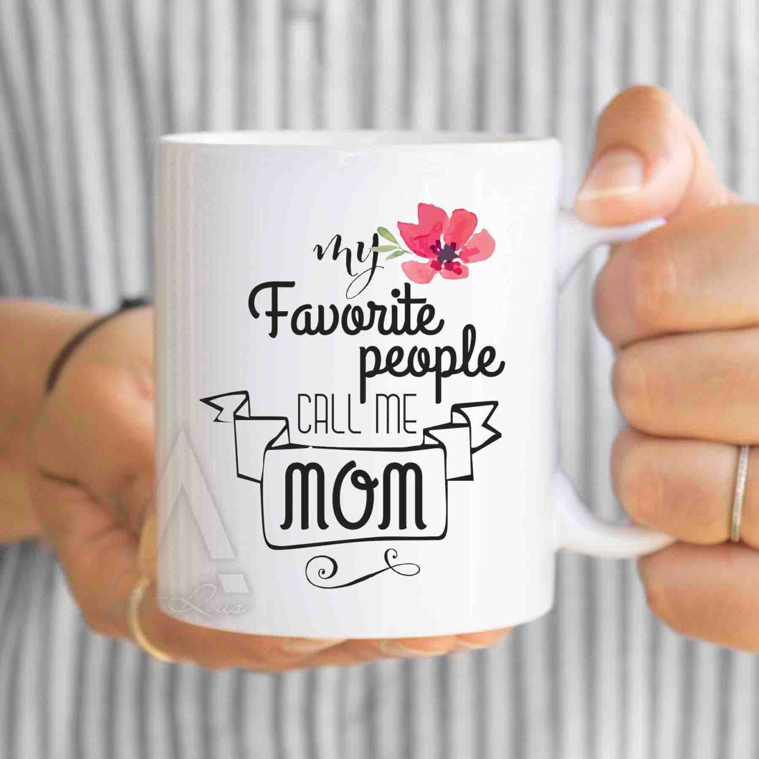 Christmas Gifts For Mom Son Gift My Favorite People Call Me Coffee Mug Mother Birthday Wedding Ideas Mu384 By Artruss On Etsy