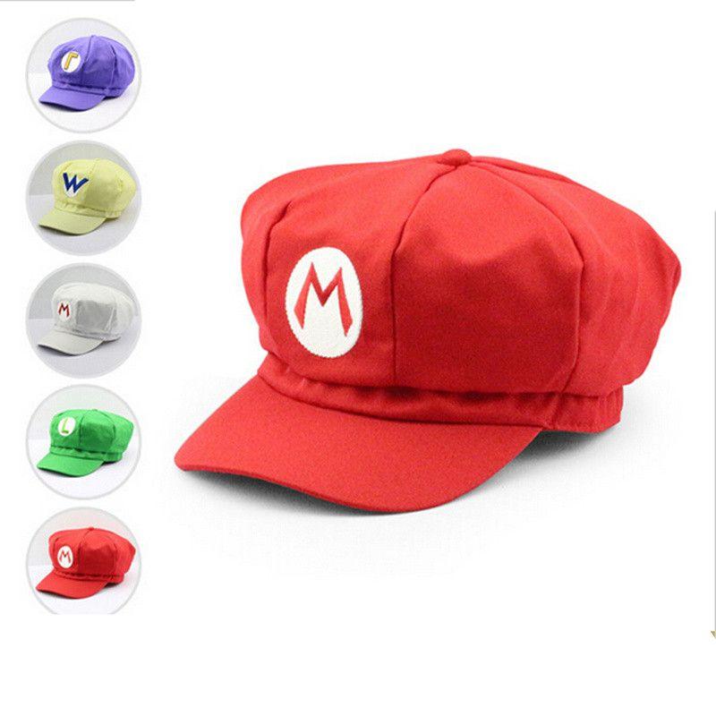 2deeba449f5e Super Mario Plush Toys Cotton Caps Mario Luigi Wario Waluigi Cosplay ...