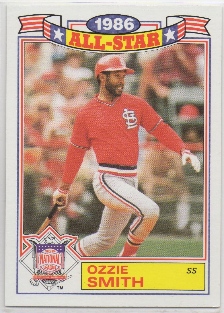1987 Topps All Star Ozzie Smith Baseball Cards For Sale Baseball Cards All Star