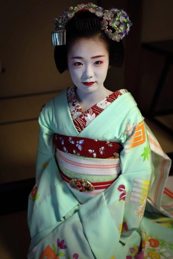 Omori no Hana — geisha-kai:   September 2016: maiko Ichiyuu of...
