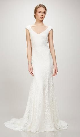 Try this beautiful wedding dress. From Bliss by Theia. Available at ...