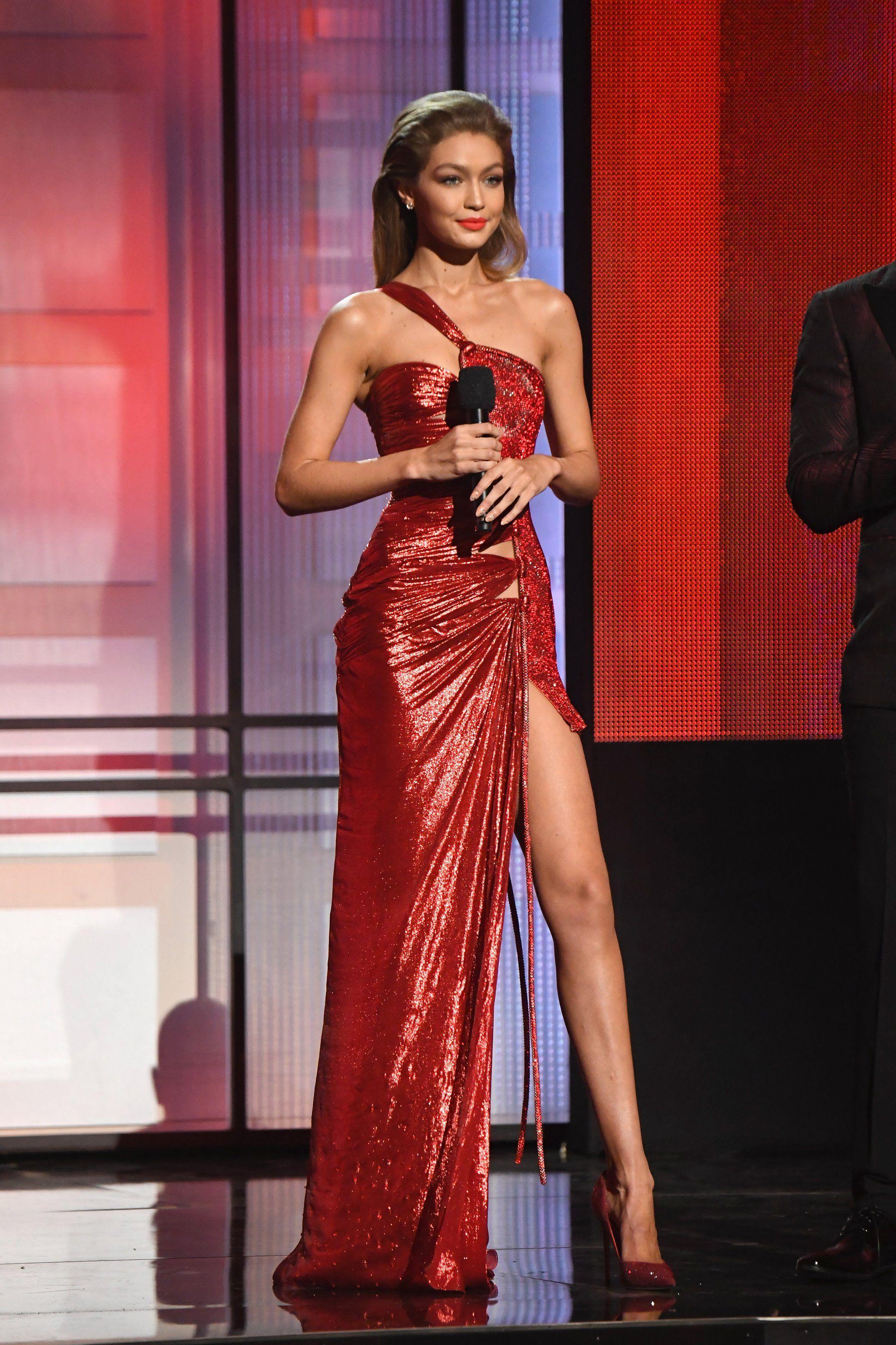 3e52c8474a Gigi s Sparkly Red Atelier Versace Dress With Swarovski Crystals