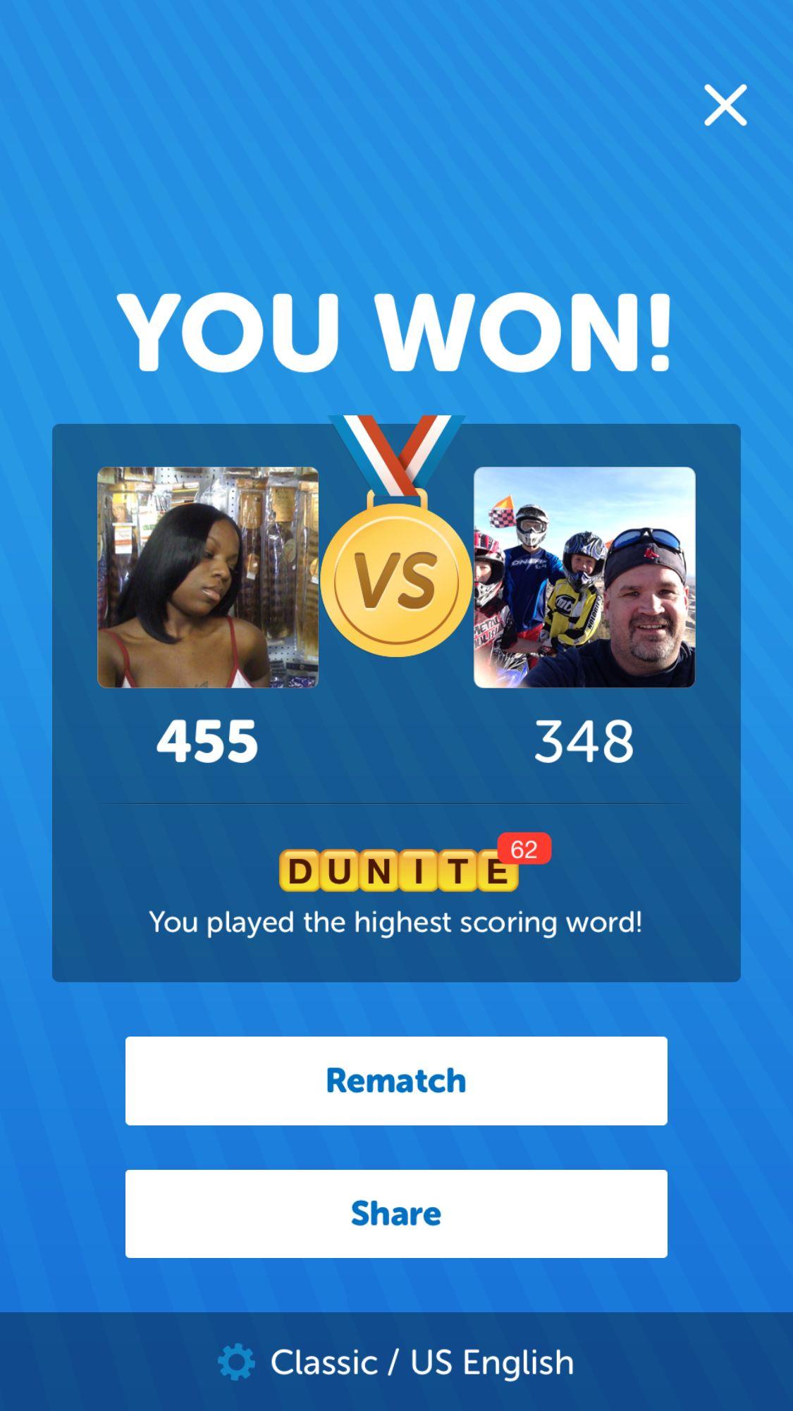 I just beat 'Wade S.' 455 - 348!