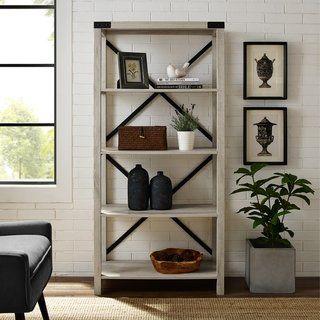 The Gray Barn Kujawa 64 Inch Tall Bookshelf Tall Bookshelves Living Room Furniture Furniture Deals