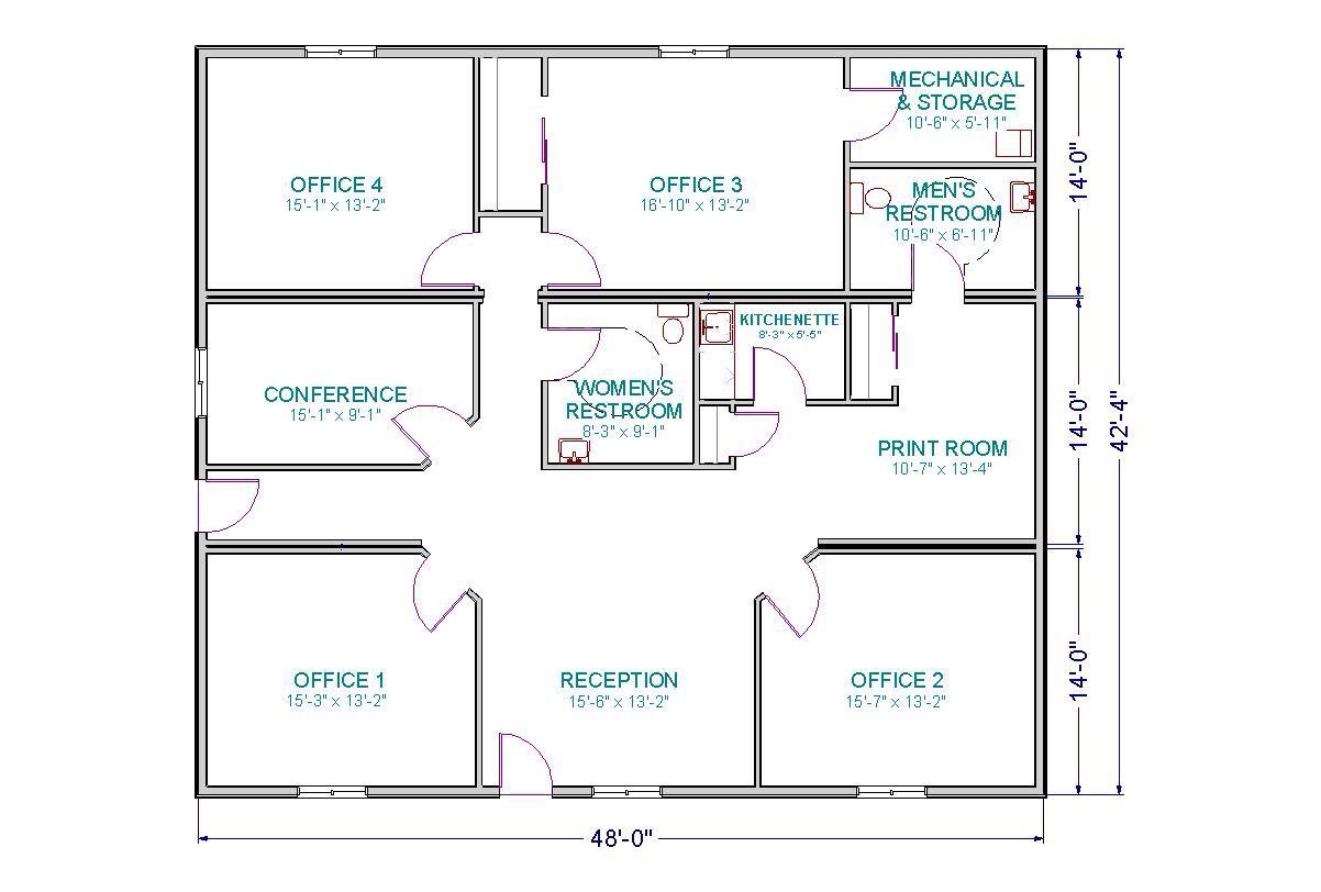 Floor Plan 3 Small Office Layout Pinterest